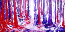 Coloured Forest red/purple