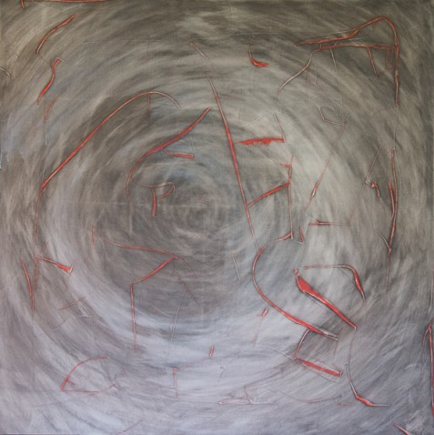 Red lines & Grey circles