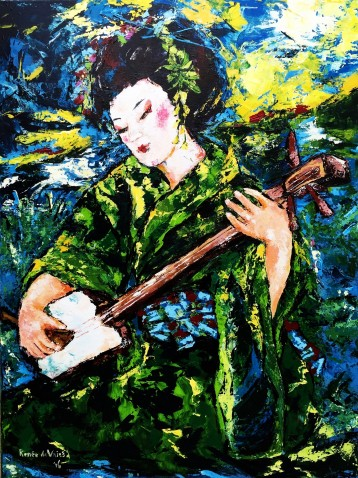 Renée de Vries 'Geisha playing the shamisen'