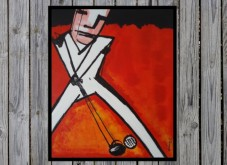 RolandRongenART- Golfer (Reproductie Herman Brood)