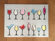 Colourful party drinks
