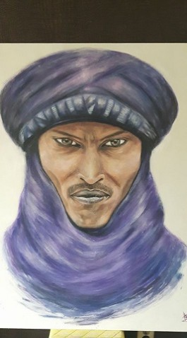 "Portret van Tuareg man ""The Strong Silent One"""