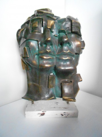 Andrés Gomez – gesigneerd – Modern abstract sculptuur