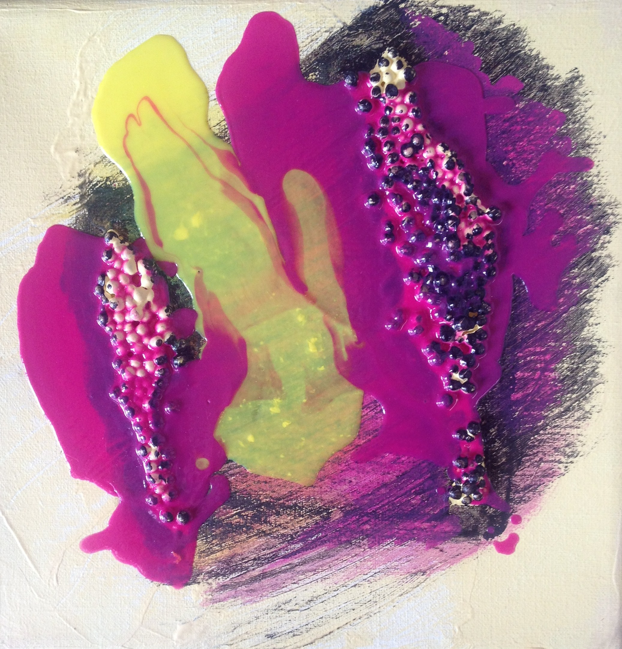 abstract modern pouring geel
